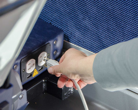 Power Outlets at every seat