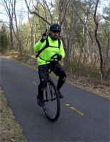Unicyclist Completes 100+ Miles for COVID-19 Research
