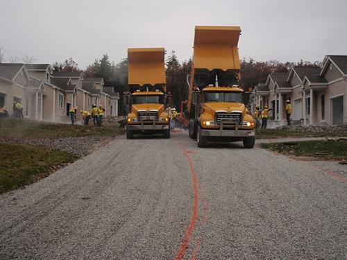 Installing porous pavement