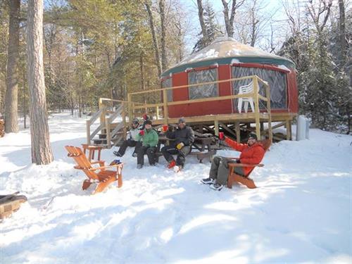 Pleasant Mountain Cabins sit Mountaintop.