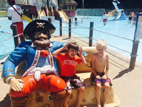 Even the littest ones have a great time at Water Country!