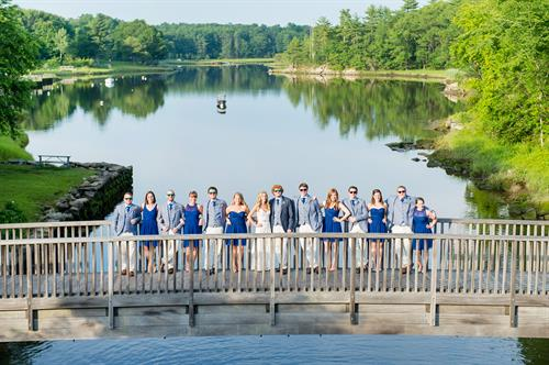Bridal Party on the bridge over the Oyster River