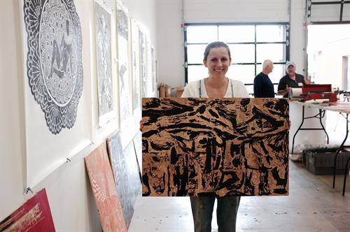 Big Ink printing event in the Gallery at 3S