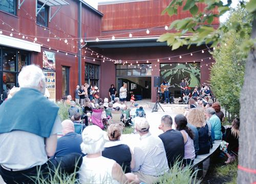 Loading Dock Concert Series. Summer outdoor music series Fridays in July & August.