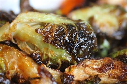 Fried Buffalo Brussel Sprouts