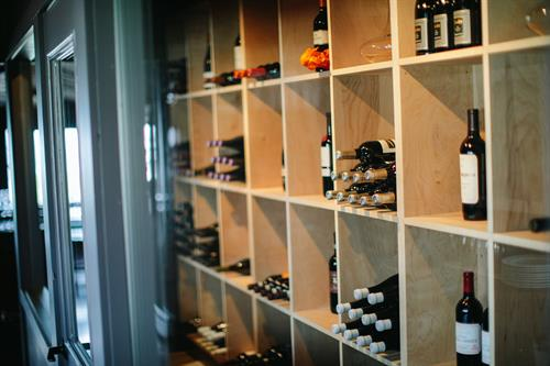 The Carriage House wine room