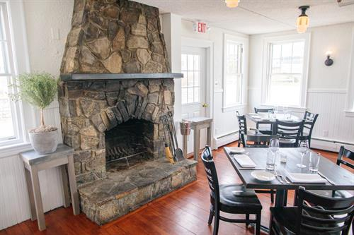 The Carriage House fireplace