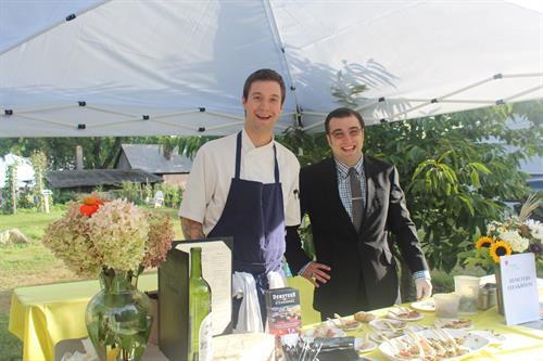 GM Matt Arsenault and Sous Chef Ian Scissons at Strawberry Banke Vintage and Vine 2015