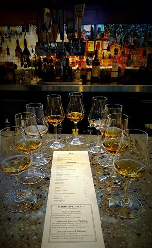 Nightly Specials: Featured Whiskey Flights