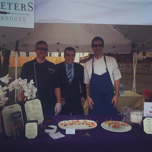 Chef Gary Jensen, GM Matt Arsenault, Sous Chef Ian Scissons at Strawberry Banke Passport 2015