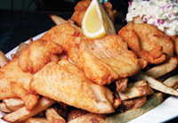 Only the freshest haddock makes it into Dinnerhorn's famous Fish n Chips