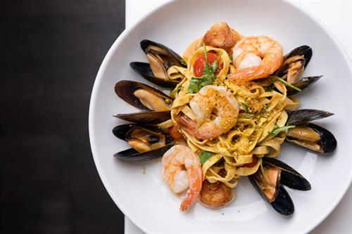 Seafood pasta at Jumpin' Jay's Fish Cafe