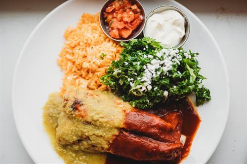 Enchiladas at Vida Cantina