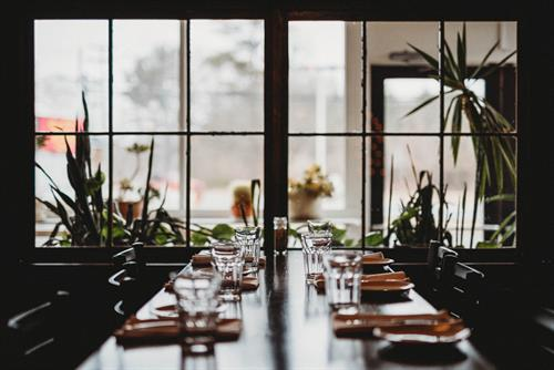Table setting at Vida Cantina