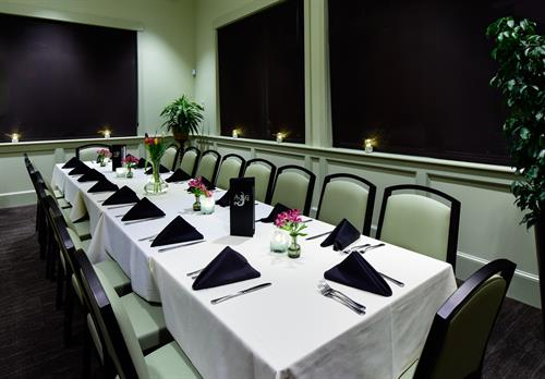 Private dinners for up to 18!  With Patio access.