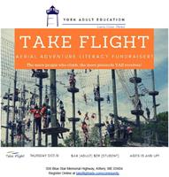 York Adult Education Fundraiser at Take Flight Adventures