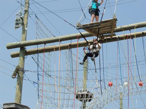 Super Swing on Take Flight's Aerial Adventure Course