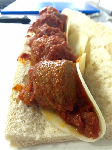 Meatball and Provolone