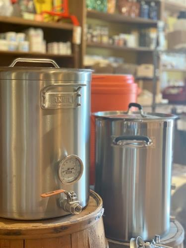 Check out our shop for brewery merch, cans and home-brew supplies