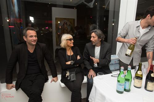 Legendary British fashion icon Barbara Hulanicki with artist Andres Conde.