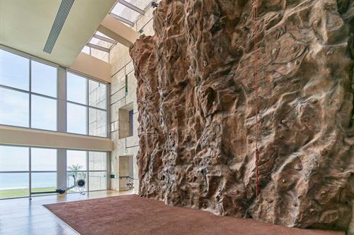 Two Story Indoor Rock Climbing Wall