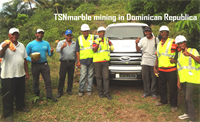 Marble mining by TSNmiami.com Marble Federation Dominican Republic