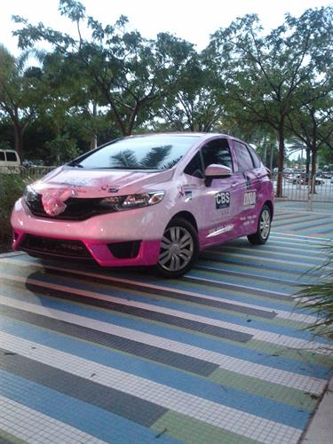 Our Pink CBS Car!