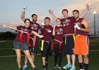 Flag Football teams from the Miami Heat Staff