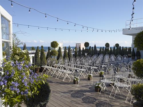 Skyline Deck Wedding Set-Up