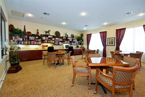 Have fun playing games, reading books or surfing the web in the Heritage Oaks Library