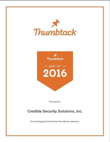 Thumbtack Award 2016