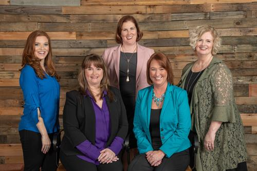 BBK Management Team starting from left, clockwise: Melanie Davis, Melanie Bush, Lori Szyperski, Teresa Starr, Randie Morton