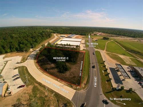 22404 W FM 1097 Rd -  2.1 Frontage Acres on 1097, Montgomery, TX