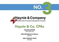 HAYNIE & COMPANY IS A 2021 FASTEST-GROWING FIRM IN THE U.S.