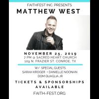 Matthew West To Headline FaithFest 2019