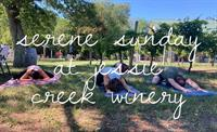 Serene Sunday Yoga at Jessie Creek Winery