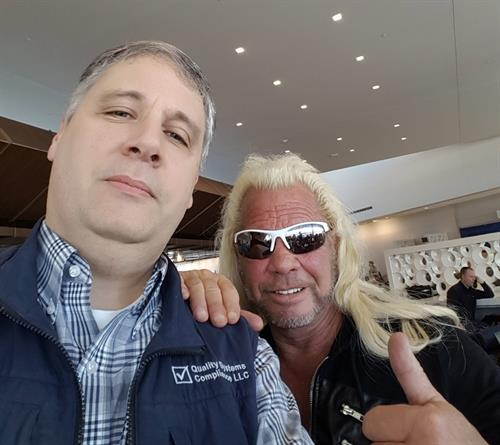 Mark with Dog the Bounty Hunter