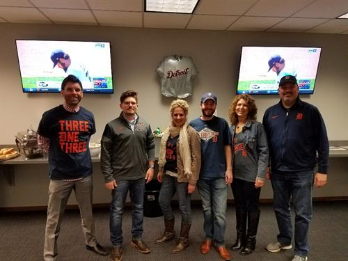 Tigers Opening Day event with the A2 Sales team!