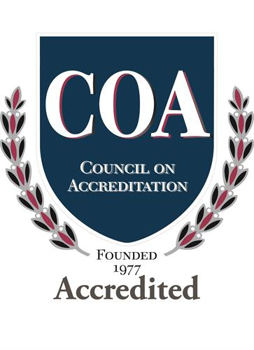 We are accredited through the Council on Accreditation.