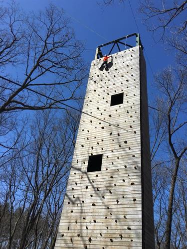 The tower is a favorite during Upper Elementary's annual trip to Camp Howell.