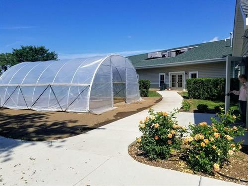 With the addition of our new hoop house, Meadow students can now garden nearly all year round.