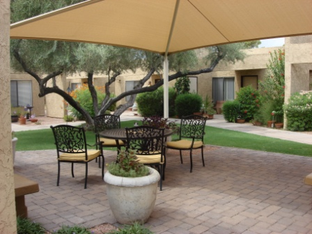 Garden Court outdoor patio