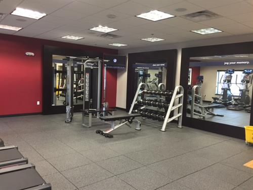 Extra large fitness room