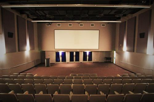 Theater / Auditorium that seats up to 200 people with HD theatrical projection and surround sound