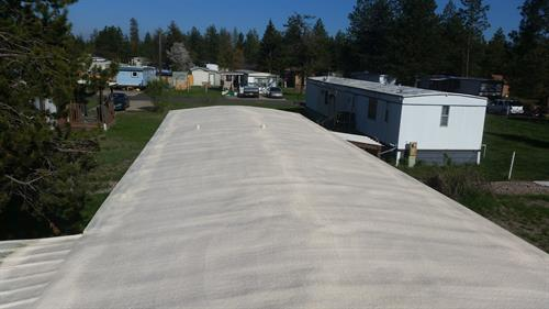 We are the solution for mobile Home roofs. seamless trouble free Foam