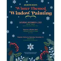 Arlington Heights Winter Themed Window Painting