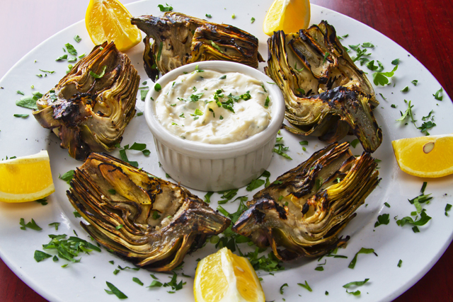 Oak-Grilled Artichoke
