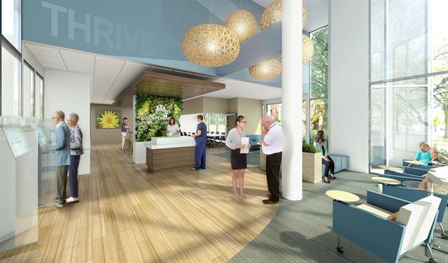 Lobby of Kaiser Permanente Manhattan Beach Medical Offices