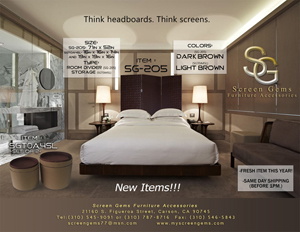 THINK HEADBOARD, THINK SCREENS!