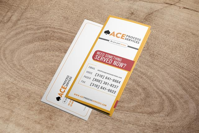 ACE Process Service - Informational Brochure - Front